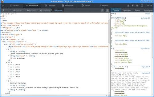 Průzkumník kódu ve Firefoxu