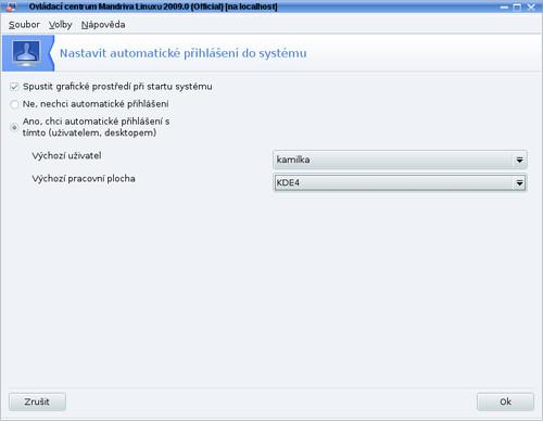 Nastavenie automatického prihlasovania používateľa