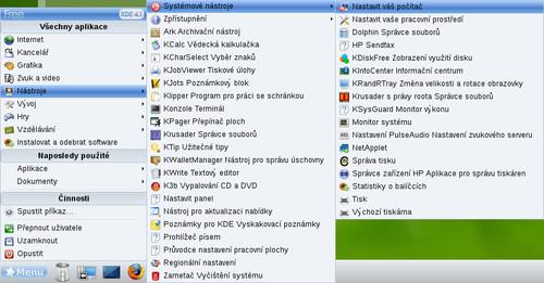 Cez toto menu sprístupnime program pre nastavenie počítača