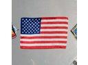 Americká vlajka na přechodových dveřích modulu Harmony, zanechaná posádkou mise STS-135 (wikipedia.org)