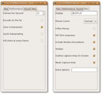 Pokročilé možnosti nastavení recordMyDesktop