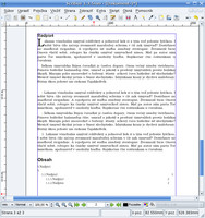 Importovaný text v Scribuse 1.3.5 (Linux)