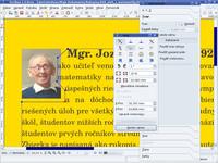 Úprava textového rámca pre čiastočné prekrytie obrázku textom