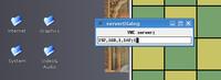 Klient vncviewer vás uvíta oknom, kde uvediete IP adresu vzdialeného počítača (PC2).