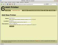 Počáteční nastavení tiskárny