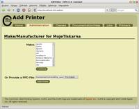 Výběr ovladače tiskárny