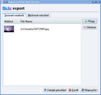 Nahrát obrázek na Flickr pomocí KIPI pluginu