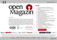 Titulní strana jedenáctého openMagazinu