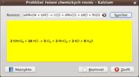 Vyčíslování chemických rovnic s Kalzium