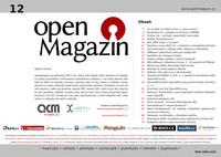 Titulní strana dvanáctého openMagazinu