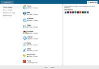 Zoho Dashboard - volba aplikací a barevnost