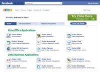 Aplikace Zoho pro Facebook