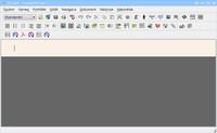 Program LyX s novým dokumentem