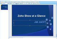 Zoho Show - tvorba prezentace