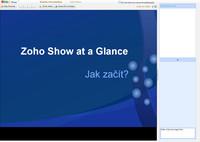 Zoho Show - vzdálená prezentace
