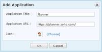 Zoho Personal - přidání vlastní aplikace