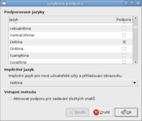 Plná podpora češtiny