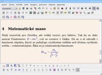 Vložení rovnic do řádku i na samostatný řádek