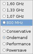 Nastavení frekvence procesoru