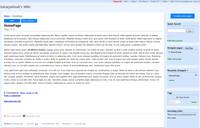 Zoho Wiki - výsledná podoba stránky