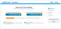 Zoho Meeting - úvodní stránka