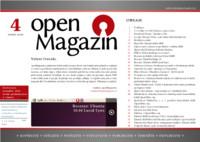 Titulní strana čtvrtého letošního OpenMagazinu