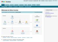 Zoho Invoice - úvodní stránka