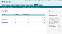 Zoho Invoice - konfigurace sazeb DPH