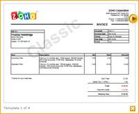 Zoho Invoice - šablona faktury
