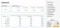 Zoho Invoice - dashboard