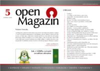 Titulní strana pátého letošního OpenMagazinu