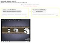 Zoho Recruit – volba způsobu používání