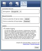 Nastavení bezpečnosti a možnost přepsání dat na serveru nebo v aktuálním prohlížeči