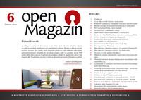 Titulní strana šestého letošního openMagazinu