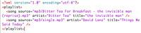 Takto vypadá vzorové XML