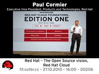 Paul Cormier, viceprezident firmy Red Hat, opět v Brně