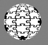 Hotová koule pro použití jako maska vrstvy
