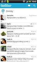 Twitter - Zmínky