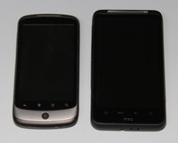 Porovnání s Nexus One (laskavě zapůjčil David Šmehlík)