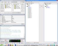 QJackCtl – automaticky vytvořená propojení v okně Patchbay