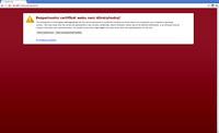 Reakce prohlížeče Google Chrome na self-signed certifikát