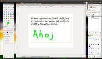 Tenhle GIMP je nějaký zvláštní – běží na vzdáleném serveru