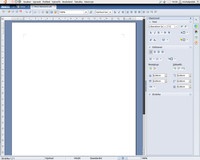 Textový editor po spuštění