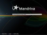 Start live CD - distribuce Mandriva Linux 2009