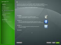 Výběr grafického prostředí při instalaci OpenSuSE 11 z DVD
