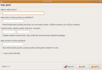 Zadání uživatelských údajů při instalaci distribuce Ubuntu 8.10 Intrepid Ibex