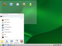 Hlavní menu openSUSE 11.1, KDE4