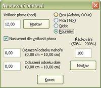 Možnosti nastavenia veľkosti písma, riadkovania a odsadenia odsekov