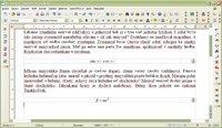 Ukážka pseudonáhodného textu a vzorcov s automatickým číslovaním