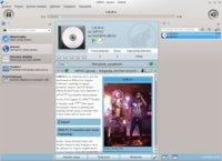 Amarok přehrávající MP3